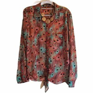 KUT FROM THE KLOTH Long Sleeve Blouse Large